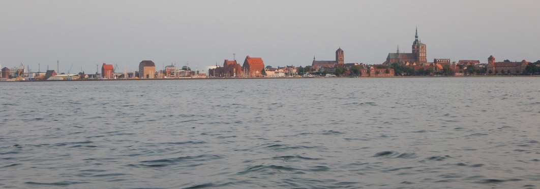 Stralsund in the evening